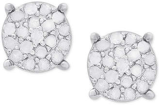 Townsend Victoria Diamond Cluster Stud Earrings (1/4 ct. t.w.) in Sterling Silver