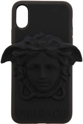 Versace Black 3D Medusa iPhone X Case