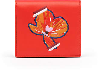 MCM Essential Two Fold Flat Wallet In Victory Flower