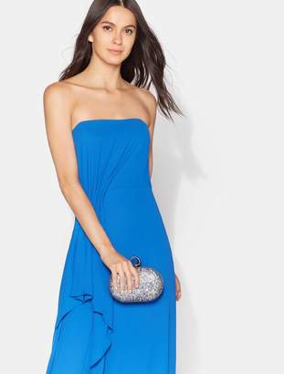 Halston Drape Front Crepe Gown