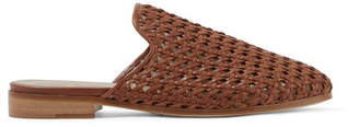 Brother Vellies - Woven Leather Slippers - Brown