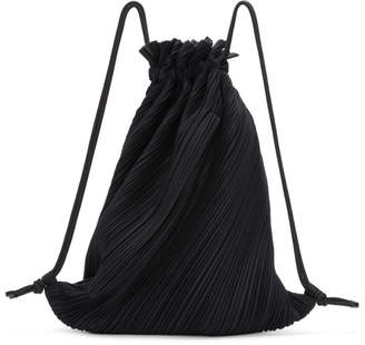 Pleats Please Issey Miyake Black September Backpack