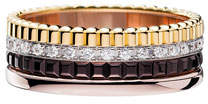 Boucheron Classic Quatre 18k Four-Color Gold Small Diamond Band Ring, Size 53