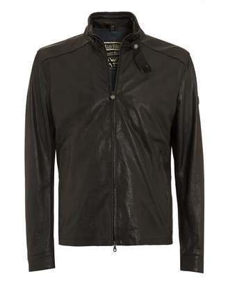 Matchless Mens Blouson Jacket, Black Leather Nappa Leatheri Biker
