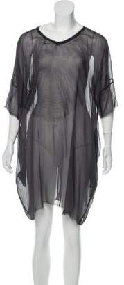 Raquel Allegra Silk Raw-Edge Dress