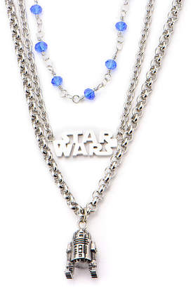 Star Wars FINE JEWELRY Stainless Steel R2D2 3-Tiered Pendant Necklace