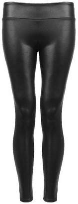 VIP Womens Wet Look High Waisted Leather Look Leggings