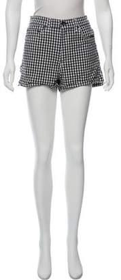 Rag & Bone Gingham Mini Shorts