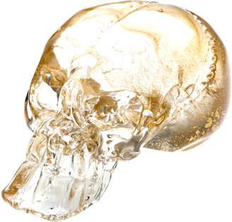Gold Gilded Glass Skull