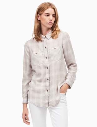 Calvin Klein frosted flannel button down shirt