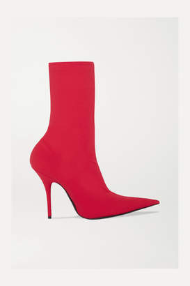 Balenciaga Knife Spandex Sock Boots - Red