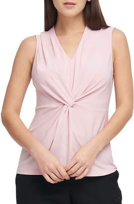 Donna Karan Women's Matte Jersey Center-Knot Top