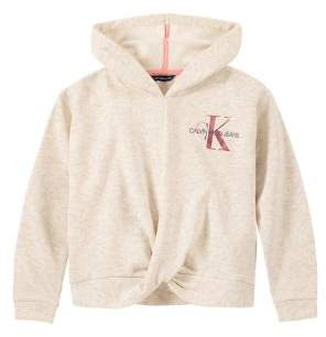 Calvin Klein Girl's Fleece Twist Front Hoodie