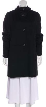 Armani Collezioni Knee-Length Button-Up Coat
