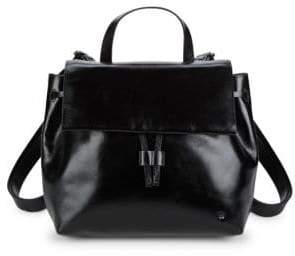Halston Drawstring Leather Backpack