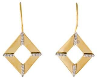 Reiss I. 14K Diamond Drop Earrings yellow I. 14K Diamond Drop Earrings
