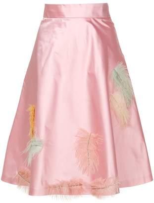 Miu Miu (ミュウミュウ) - Miu Miu フェザーディテール フレアスカート