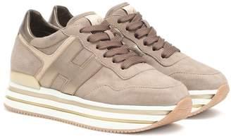 Hogan H222 suede flatform sneakers