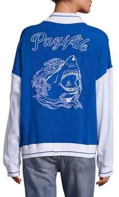 Koza Colorblock Shark Varsity Cotton Jacket
