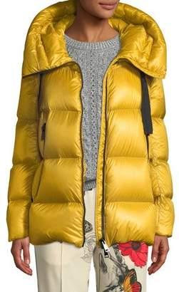 Moncler Serin Puffer Coat w/ Drawstring Hood