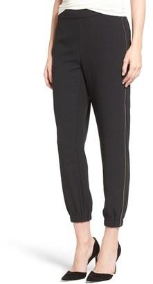 Women's Trouve Zip Detail Jogger Pants $79 thestylecure.com