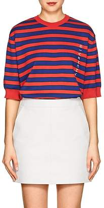 Givenchy Women's Logo Striped Compact Knit Cotton Top