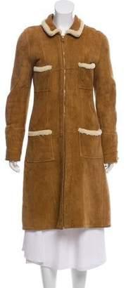 Chanel Long Shearling Coat