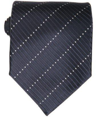 Armani Giorgio Armani navy dot striped silk tie