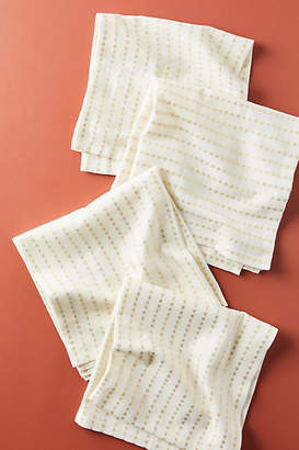 Anthropologie Shimmer Stripe Napkins, Set of 4