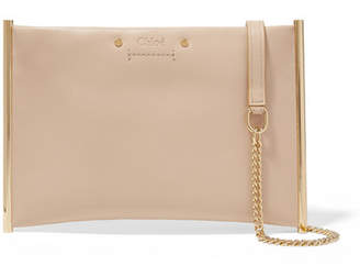 Chloé Roy Small Leather Shoulder Bag - Beige