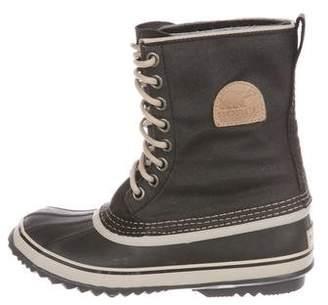 Sorel Canvas Mid-Heel Boots