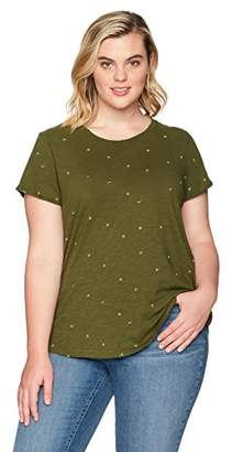 Lucky Brand Women's Embroidered Plus-Size Tee