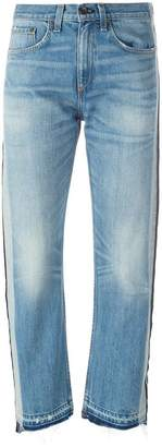 Rag & Bone Jean striped trim cropped jeans