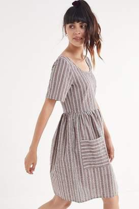 Urban Renewal Vintage Remnants Striped Seersucker Babydoll Dress