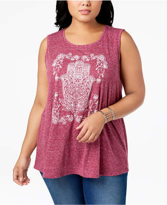 Style&Co. Style & Co Plus Size Graphic Tank Top, Created for Macy's