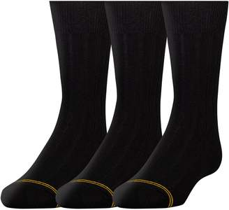 Gold Toe Boy's 8-20 Wide Rib Crew Sock (3 Pair)