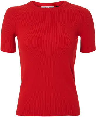 Helmut Lang Rib Knit Essential Red Tee