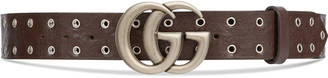 Embossed belt with double G buckle $390 thestylecure.com