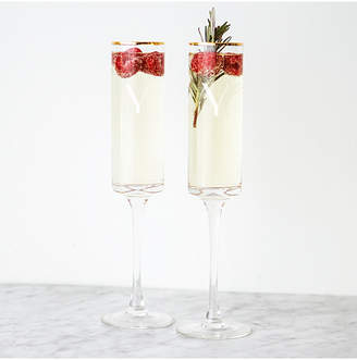 Cathy's Concepts Cathys Concepts Set Of 2 8Oz Personalized Gold Rim Contemporary Champagne Flutes