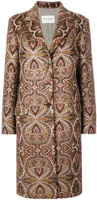 Etro patterned cocoon coat