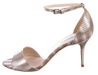 LK Bennett Leather Embossed Sandals