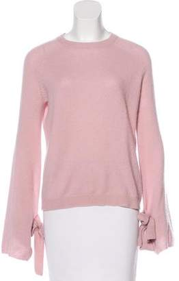 Neiman Marcus Bow-Accented Cashmere Sweater