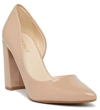 Nine West Anisa d'Orsay Block Heel Pump - Wide Width Available