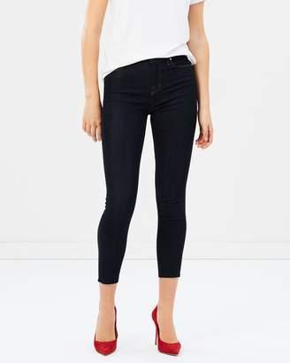 J Brand Maria High-Rise Skinny Raw Hem Jeans