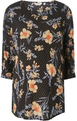 Dorothy Perkins Womens **Maternity Polka-Dot & Floral Print Top