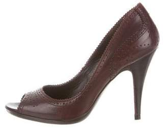 Pedro Garcia Perforated Leather Pumps