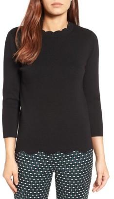 Women's Halogen Scallop Edge Sweater $59 thestylecure.com
