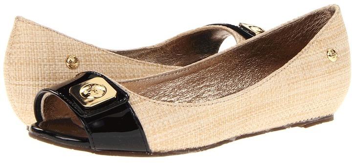 Sebago Camella Peep Toe (Natural/Black) - Footwear