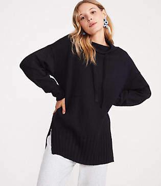 Lou & Grey Drawstring Neck Tunic Sweater