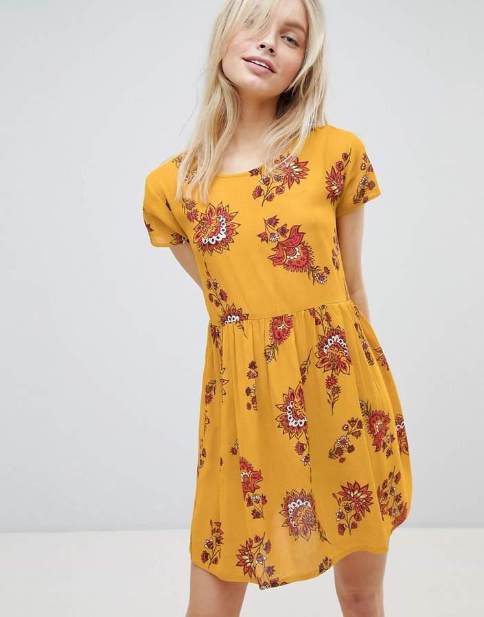– Hängerkleid mit Blumen-Print